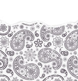 Paisley pattern with torn paper Royalty Free Stock Photography