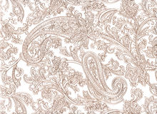 Paisley pattern on white background Royalty Free Stock Photography