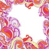 Paisley patterned frame stock photo