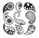 Paisley patterns. Set of paisley patterns royalty free illustration