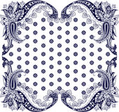 Paisley prydnad för halsduk Royaltyfri Foto