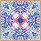 Paisley prydnad för halsduk Arkivfoto