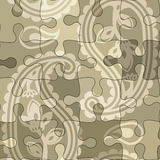 Paisley puzzle pattern Royalty Free Stock Photos