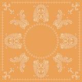 Paisley-quadratisches Muster Stockbilder