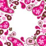 Paisley rosa ram Arkivbild