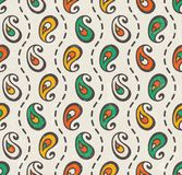 Paisley sömlöst tryck royaltyfri illustrationer