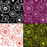 Paisley seamless. Set of paisley seamless backgrounds Royalty Free Stock Photo