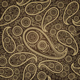 Paisley seamless. Paisley  vector seamless with gold  elements Royalty Free Stock Image