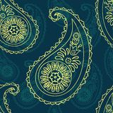 Paisley seamless background Stock Photography