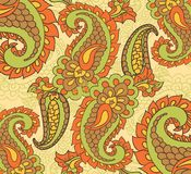 Paisley seamless background Royalty Free Stock Photography