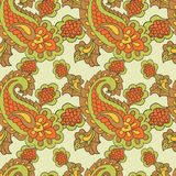 Paisley seamless background Stock Photo