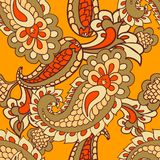 Paisley seamless background Stock Photos