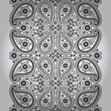 Paisley seamless border lace.Vector oriental motif Stock Images