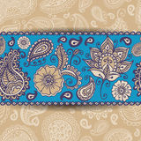 Paisley Seamless border Royalty Free Stock Photos
