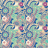 Paisley seamless colorful pattern Stock Photo