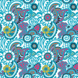 Paisley seamless colorful pattern Royalty Free Stock Images