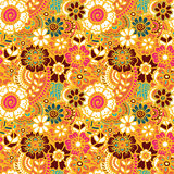 Paisley seamless colorful pattern Royalty Free Stock Photography