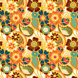 Paisley seamless colorful pattern Royalty Free Stock Image