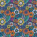 Paisley seamless colorful pattern Stock Photography