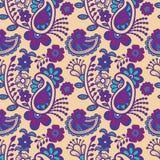Paisley seamless colorful pattern Stock Photos