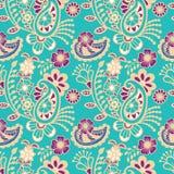 Paisley seamless colorful pattern Stock Image