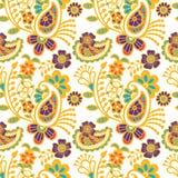 Paisley seamless colorful pattern Royalty Free Stock Photo