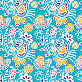 Paisley seamless colorful pattern Stock Images