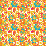 Paisley seamless colorful pattern Royalty Free Stock Photos