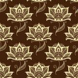 Paisley seamless floral pattern Stock Photos