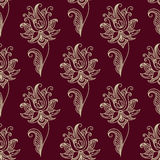 Paisley seamless floral pattern Stock Photo