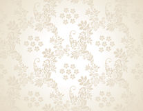Paisley seamless golden background Royalty Free Stock Images