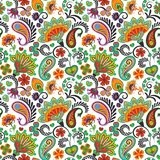 Paisley seamless hand draw vector pattern. Traditional Indian pattern for textiles, wallpapers, decor etc. Royalty Free Stock Image