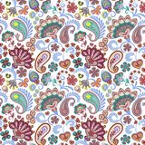Paisley seamless hand draw vector pattern. Traditional Indian pattern for textiles, wallpapers, decor etc. Royalty Free Stock Images