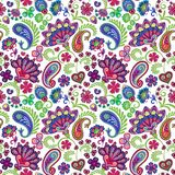 Paisley seamless hand draw vector pattern. Traditional Indian pattern for textiles, wallpapers, decor etc. Stock Photo