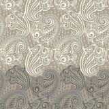 Paisley seamless lace pattern Royalty Free Stock Image