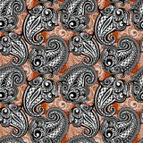 Paisley seamless lace pattern Stock Photo