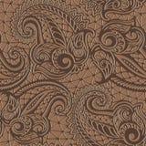 Paisley seamless lace pattern Stock Photos