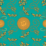 Paisley seamless pattern background Stock Image