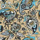 Paisley. Traditional oriental pattern in modern execution. Seamless pattern. Royalty Free Stock Photo