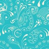 Paisley seamless pattern. On blue background Stock Photography