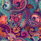 Paisley seamless pattern. Floral wallpaper vector illustration