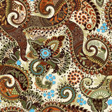 Paisley seamless pattern, floral wallpaper Stock Image