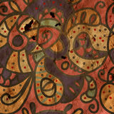 Paisley seamless pattern on paper Royalty Free Stock Images