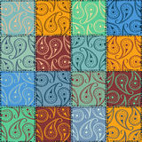 Paisley seamless pattern of patchworks Royalty Free Stock Image