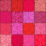 Paisley seamless pattern of patchworks Stock Image