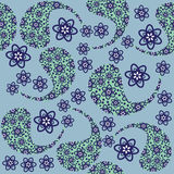 Paisley seamless pattern and seamless pattern in s Royalty Free Stock Image
