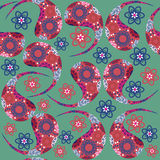 Paisley vector seamless pattern and seamless patte Royalty Free Stock Image