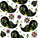 Paisley seamless pattern and seamless pattern in swatch menu, ve Stock Image