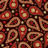 Paisley seamless pattern. Traditional Indian and Asian pattern. Seamless background stock illustration