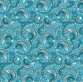 Paisley seamless with rich look Stock Photos